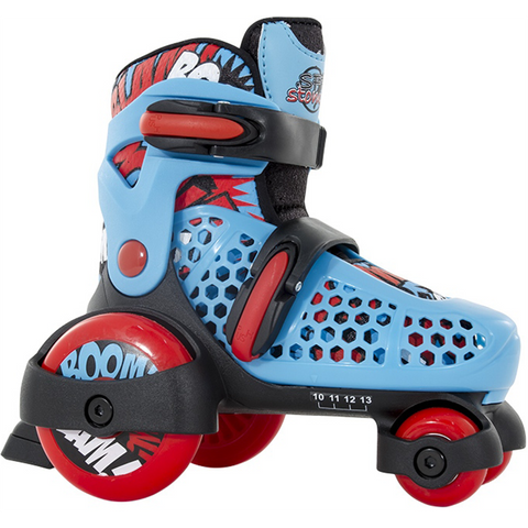 SFR Stomper Adjustable Junior Skates - Blue/Red
