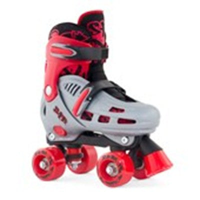 SFR Hurricane Adjustable Roller Skates - Grey/Red