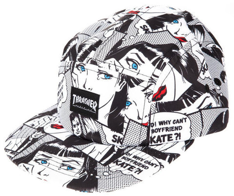"Thrasher Cap 5 Panel ""Why can't my boyfriend skate?!"""