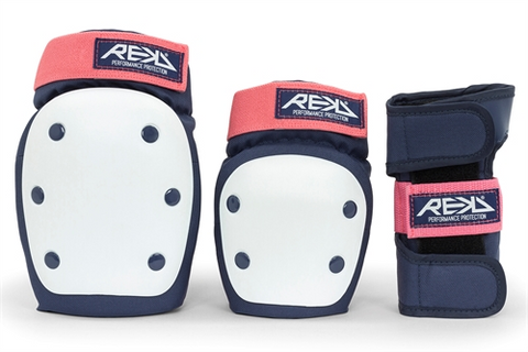 REKD Heavy Duty Triple Pad Set - Blue/Pink