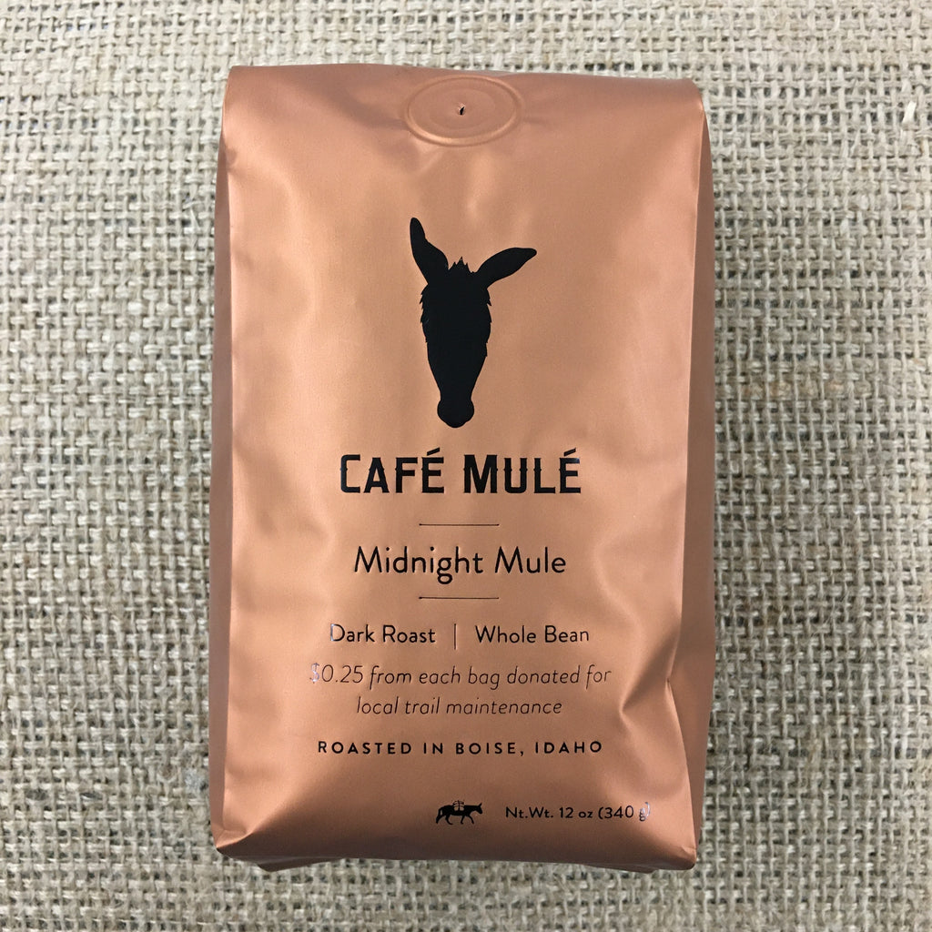 Midnight Mule <br/> <b>Dark Roast</b> <br/> 12 oz. Whole Bean Coffee