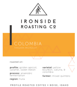 Colombia Misael Quintero Microlot <br/> <b> anaerobic // apricot, caramel, sweet melon </b> <br/> 12 oz.