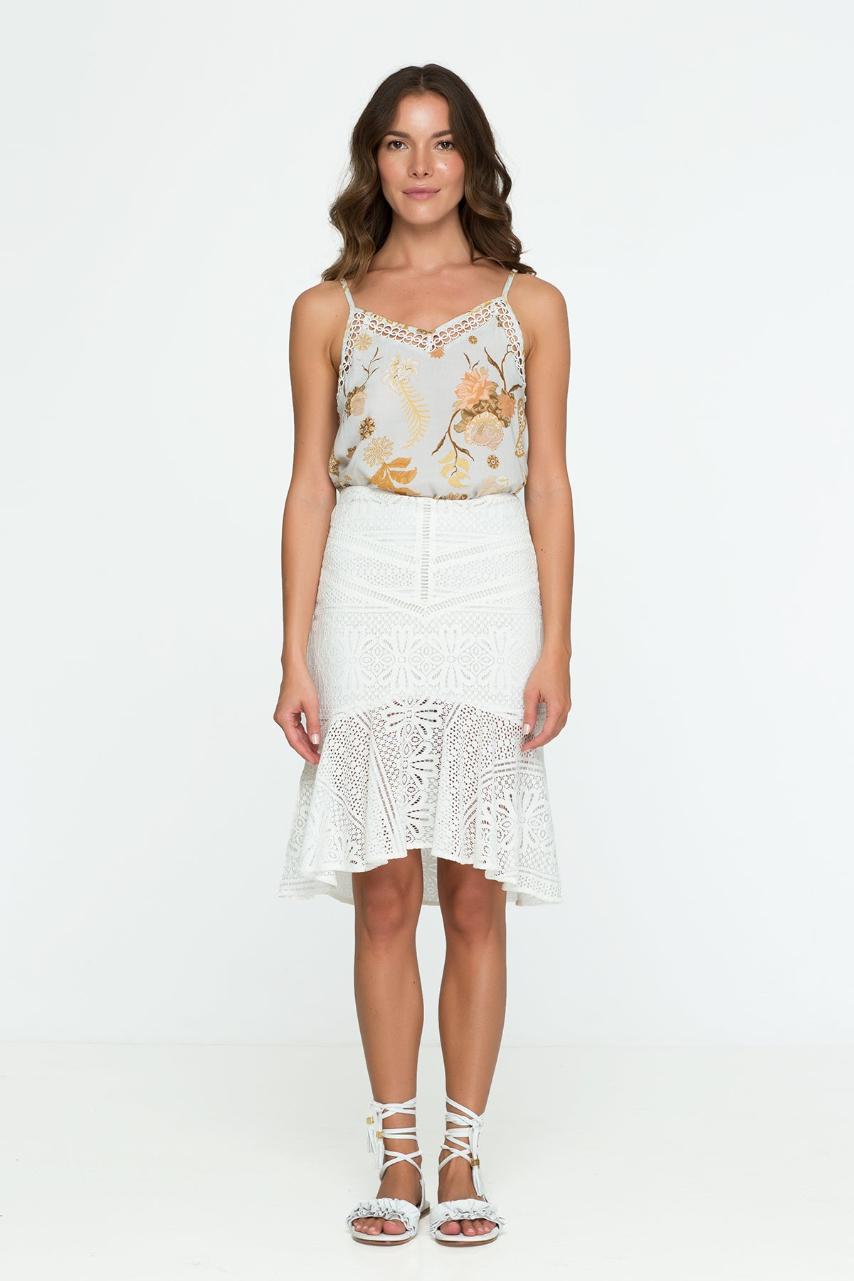 Lace Skirt White Office Pencil Skirt