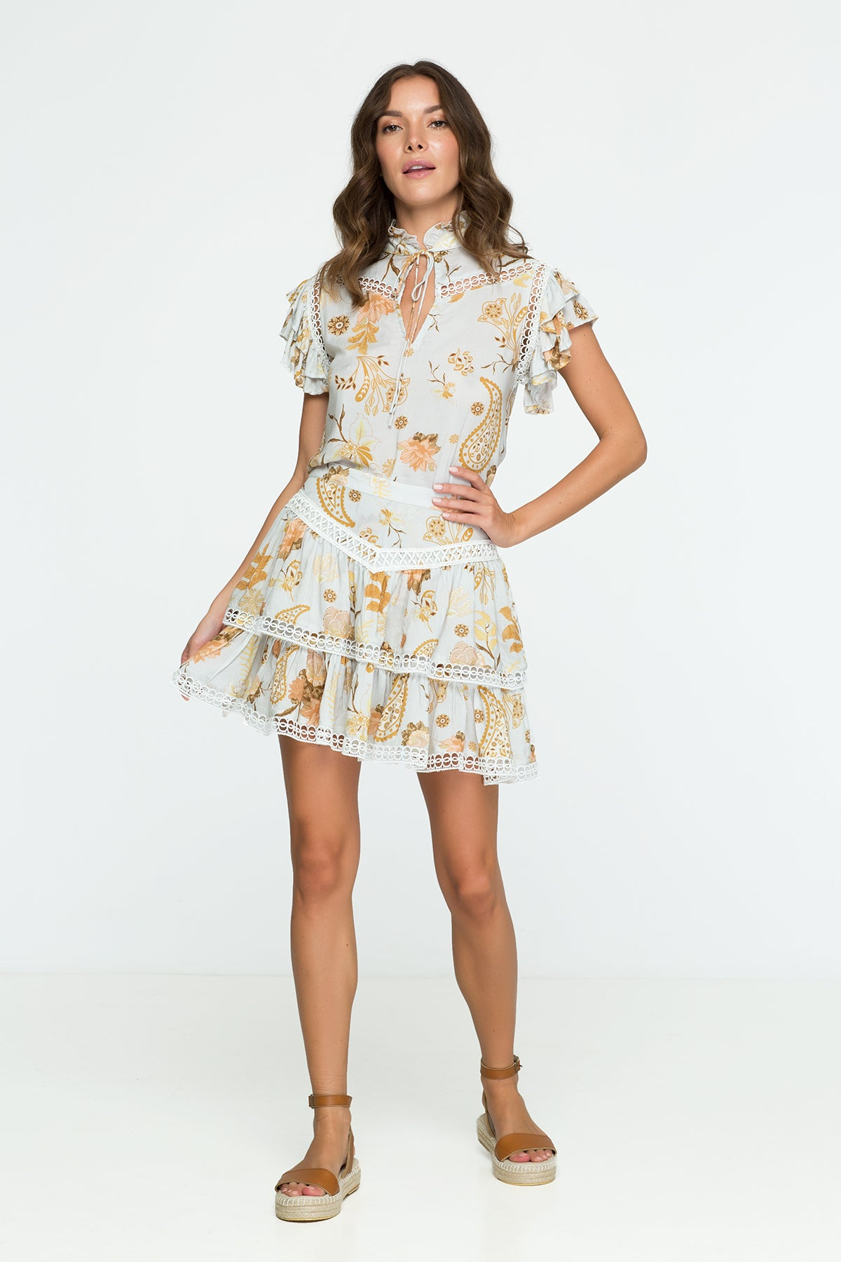 Flower Skirt Floral Print Mini Skirt
