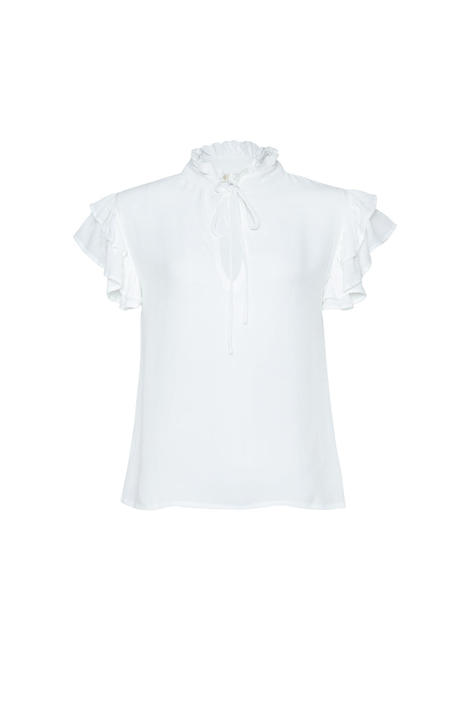 Cecile Ruffle Top