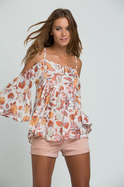 PM1519 Everly Cold Shoulder Blouse