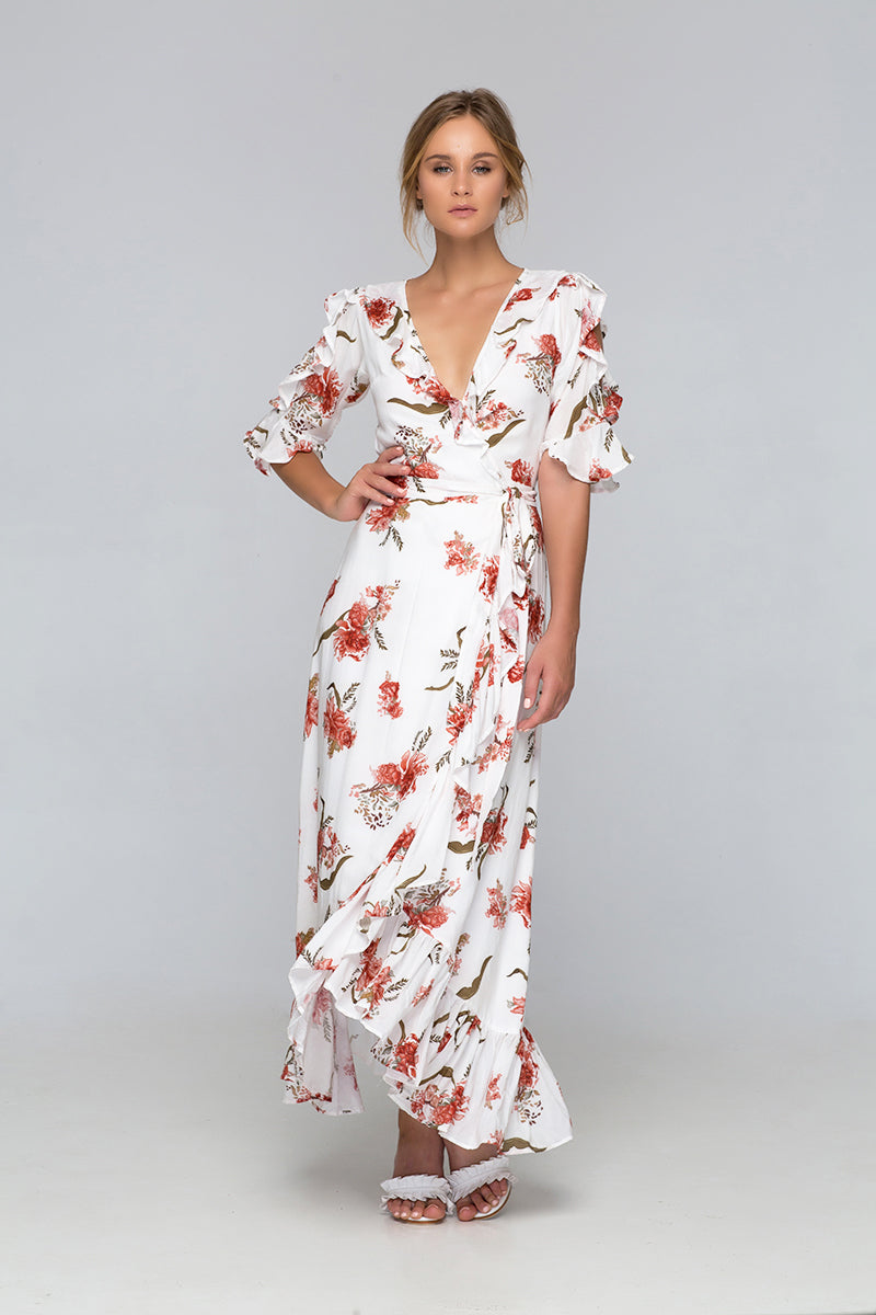 Rosie Wrap Maxi Dress