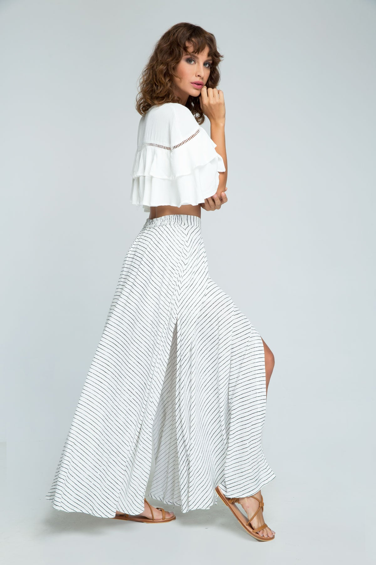 PM1585 Fine Lines Maxi Skirt