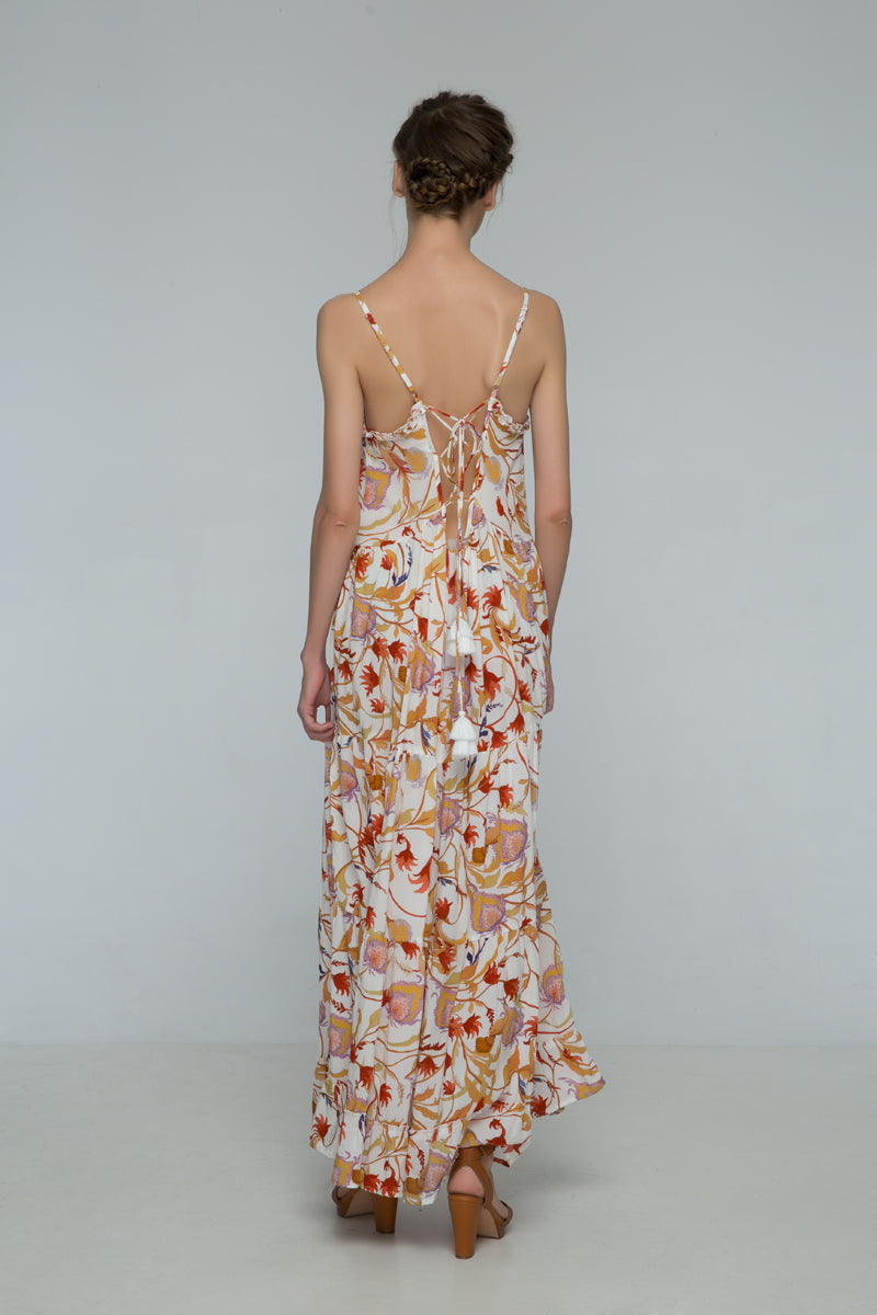 Floral Eve Strappy Maxi Dress
