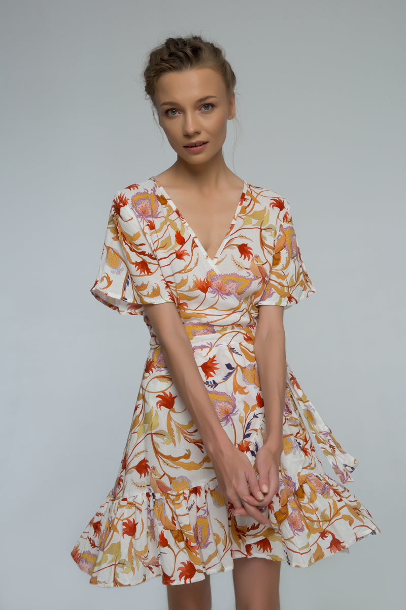 Floral Eve Wrap Dress