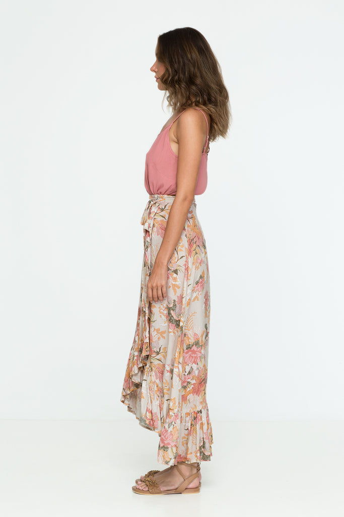 Wild Bloom Wrap Skirt