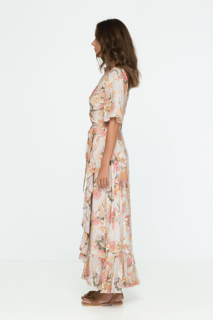 Wild Bloom Wrap Maxi Dress