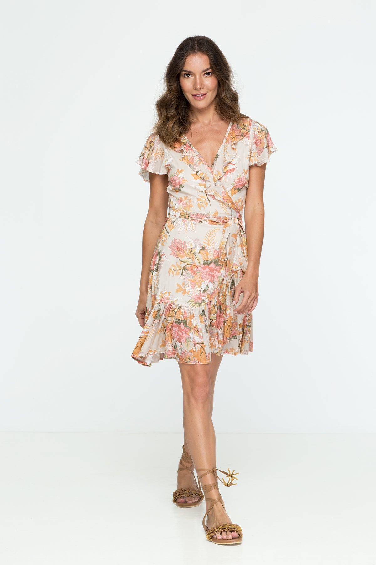 Wild Bloom Wrap Dress