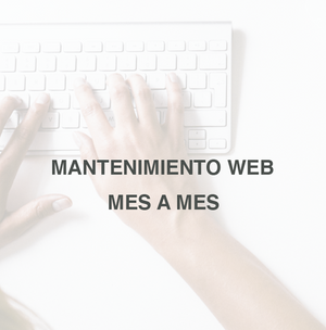 Mantenimiento Web | Mes a mes