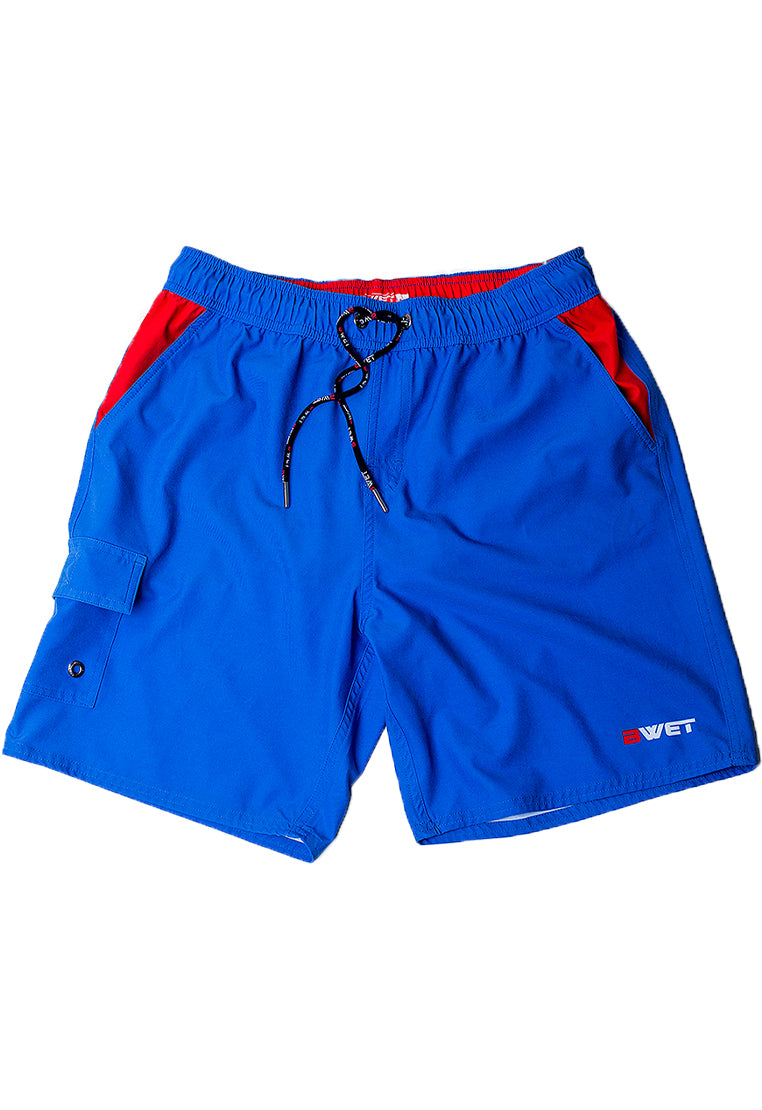 "Eco-Friendly Quick dry UV protection Perfect fit Navy Beach Shorts ""Neptune"" Right side velcro pocket and Side pockets"