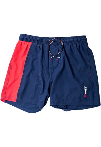 "MEN'S BEACH SHORTS ""BUTTERFLY"" BY BWET SWIMWEAR - BLUE, NAVY, RED"