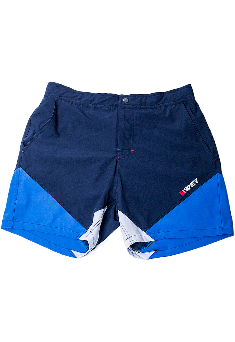 "Eco-Friendly Quick dry UV protection Perfect fit Navy Beach Shorts ""Butterfly"" Side pockets and back zipper pocket"