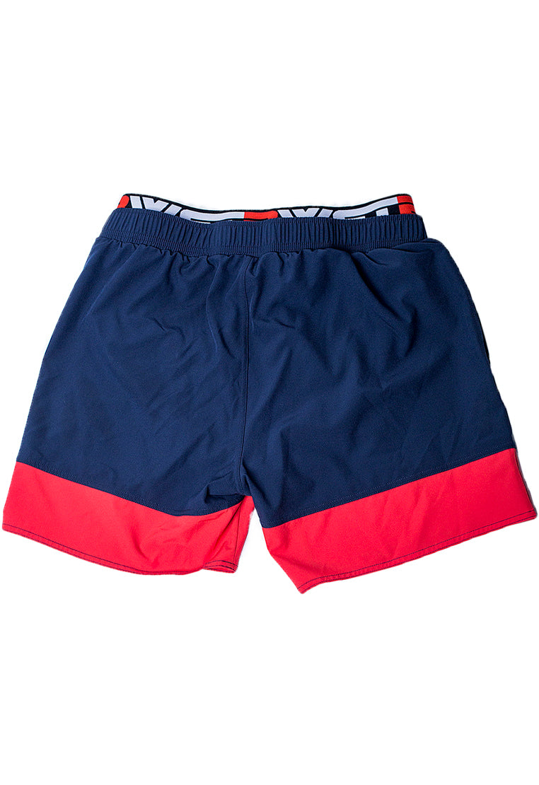 "Eco-Friendly Quick dry UV protection Perfect fit Red Beach Shorts ""Infinity"" Side pockets"