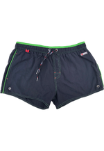"Quick dry UV protection Perfect fit Black Beach Shorts ""Altitude"" Side pockets Velcro back pocket"