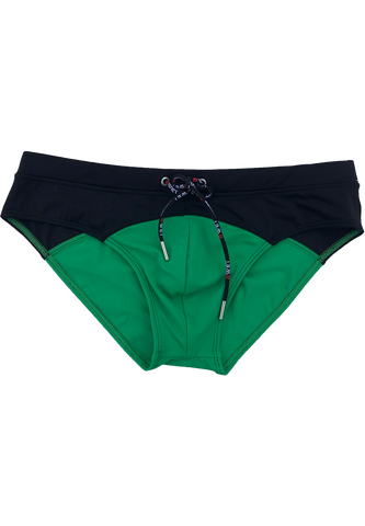 "Men's Beach Briefs ""Tuskany"" by BWET Swimwear - Green, Navy, Black, Red, Turquoise"