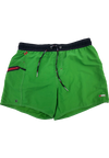 "Quick dry UV protection Perfect fit Green Beach Shorts ""OZONE"" Right pocket with zipper Left pocket"