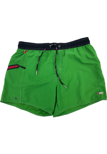 "Men's Beach Shorts ""Ozone"" by BWET Swimwear - Green, Maroon, Yellow, Blue, Black, Turquoise"