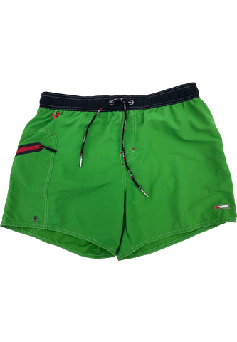Men's Beach Shorts Ozone by BWET Swimwear - Maroon, Green, Yellow, Blue, Black, Turquoise