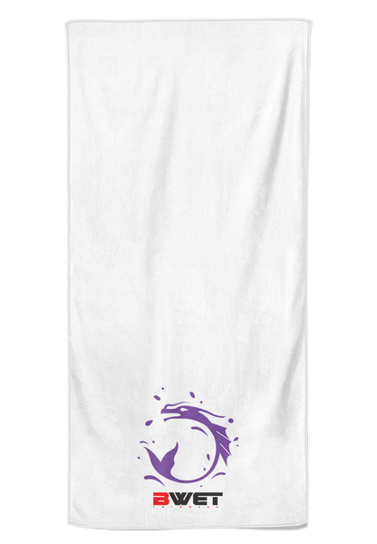 "BWET Purple Beach Towel ""HKG"""