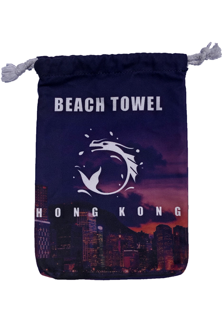 Super absorbent Sand repellent Fast drying Super soft 'non-stick sand' microfibre Purple Beach Towel HKG by BWET Swimwear