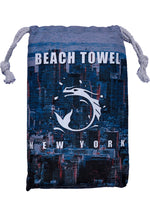 Super absorbent Sand repellent Fast drying Super soft 'non-stick sand' microfibre Navy Beach Towel HKG by BWET Swimwear