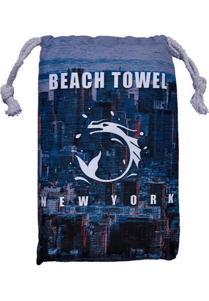 "BWET Navy Beach Towel ""HKG"""