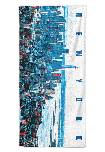"BWET Blue  Beach Towel ""NYC"""