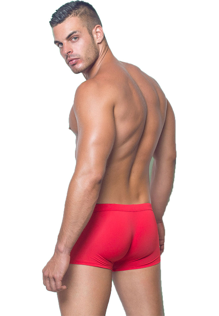 "Quick dry UV protection Perfect fit Red Beach Trunks ""Brighton"""