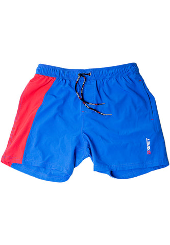 "Men's Beach trunks ""Clifton"" by BWET Swimwear - Orange, Red, Black"