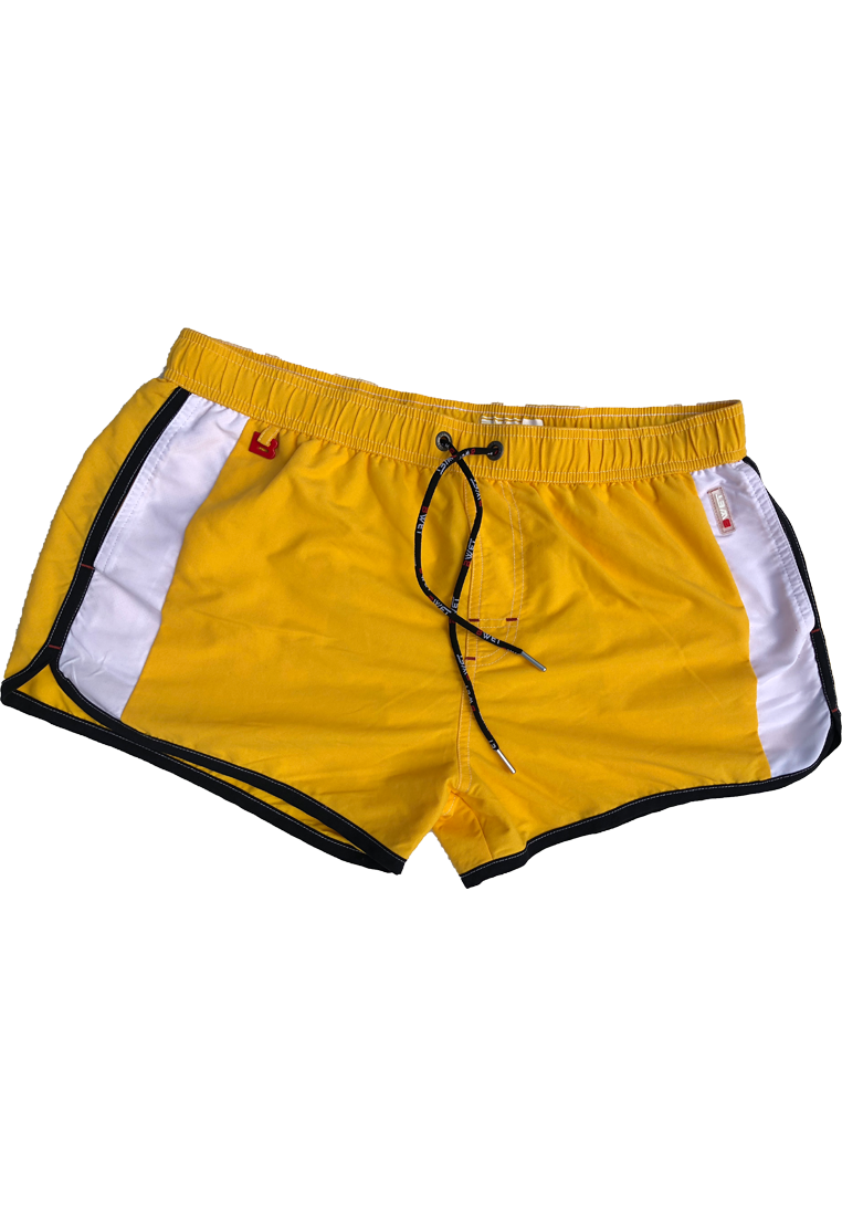 "Quick dry UV protection Perfect fit Yellow Beach Shorts ""CLOUD"" Side pockets"