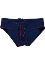 "Quick dry UV protection Perfect fit Red Beach Briefs ""TUSKANY"""