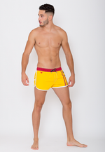 "Quick dry UV protection Perfect fit Yellow Beach Shorts ""Venice"""