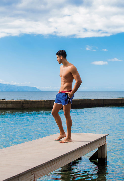"Quick dry UV protection Perfect fit Blue Beach Shorts ""Venice"""