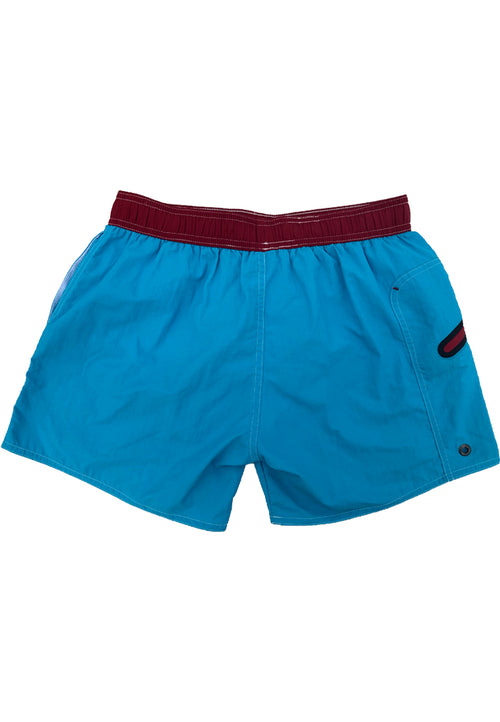 "Quick dry UV protection Perfect fit Turquoise Beach Shorts ""OZONE"" Right pocket with zipper Left pocket"