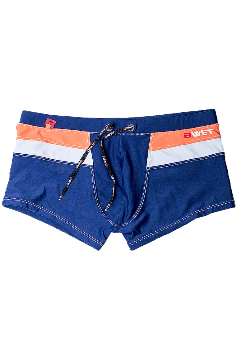 "Quick dry UV protection Perfect fit Navy Beach Trunks ""ROOFTOP"""
