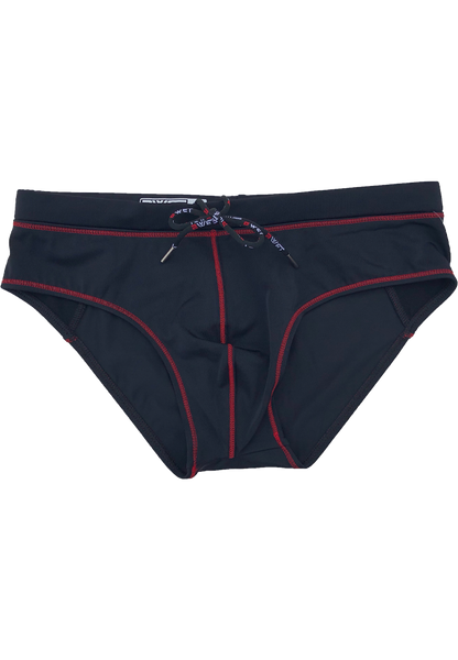 "Men's Beach Briefs ""Tuskany"" by BWET Swimwear - Red, Black, Navy, Green, Turquoise"