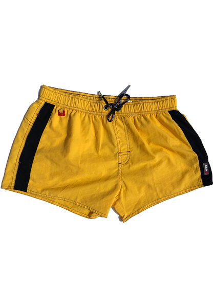 Men's Beach Shorts Atmosphere by BWET Swimwear - Yellow, Turquoise, Black, Maroon