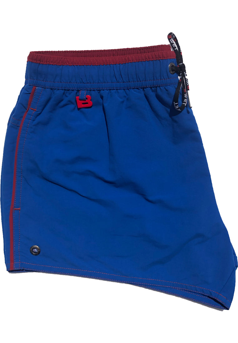 "Quick dry UV protection Perfect fit Blue Beach Shorts ""Altitude"" Side pockets Velcro back pocket"