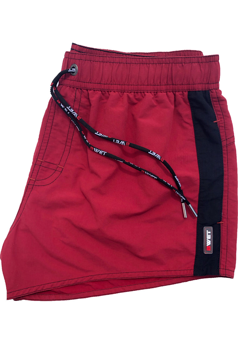 "Quick dry UV protection Perfect fit Maroon Beach Shorts ""ATMOSPHERE"" Side pockets"