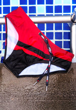"Eco-Friendly Quick dry UV protection Perfect fit Red/Black Beach Briefs ""SUNLIGHT"""