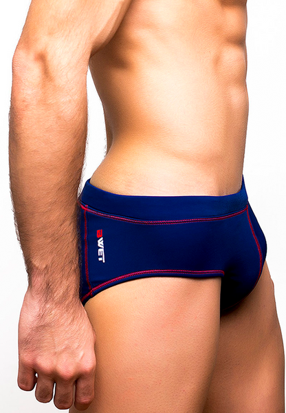"Men's Beach Briefs ""Tuskany"" by BWET Swimwear - Navy, Black, Red, Green, Turquoise"