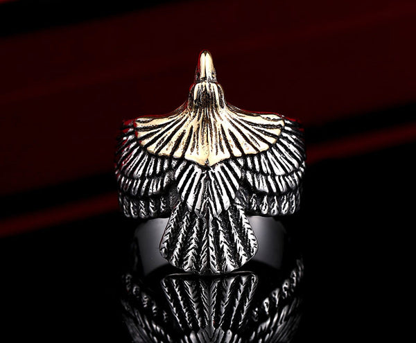 Badass Biker Eagle Ring
