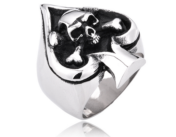 Spade and Skull ring