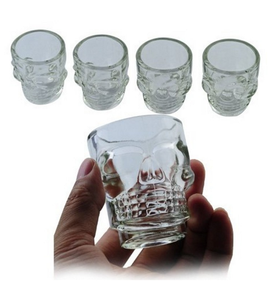 Awesome Skull Glasses (4 piece set)