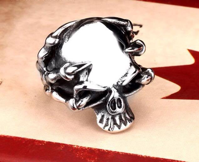 Claw Skull Head Ring